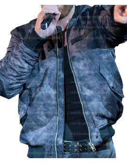 WWE Dean Ambrose Distressed Leather Bomber Jacket