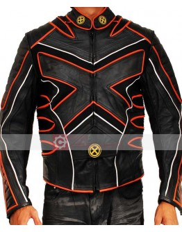 X-Men Wolverine Special Black Biker Costume Leather Jacket