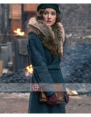 Peaky Blinders Sophie Rundle Fur Collar Coat