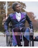 Samuel L Jackson Mr Glass Elijah Price Black Leather Trench Coat
