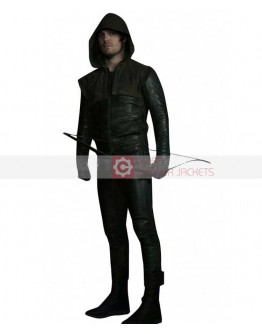 Arrow Stephen Amell Leather Costume Pant