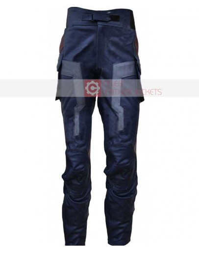 Captain America Chris Evans Costume Leather Pant