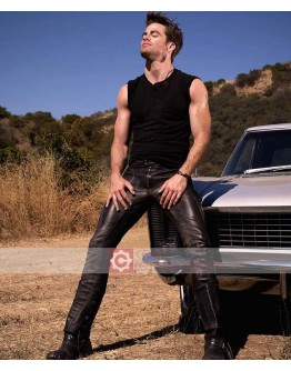 Chris Pine Straight Leather Pant
