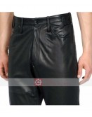Designers Loose Fit Mens Leather Pant