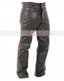 Fly Fitted Button Leather Pant