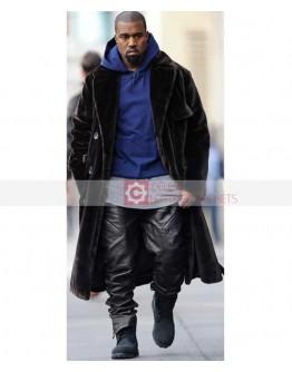 Kanye West Black Leather Pant