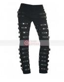 Michael Jackson Concert Metal Rock Leather Pant