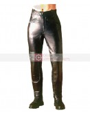 Warriors Black Biker Leather Pant