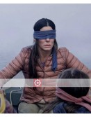 Bird Box Sandra Bullock Brown Leather Jacket