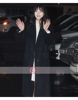 Black Korean Drama Series Ara Go Photoshoot Coat