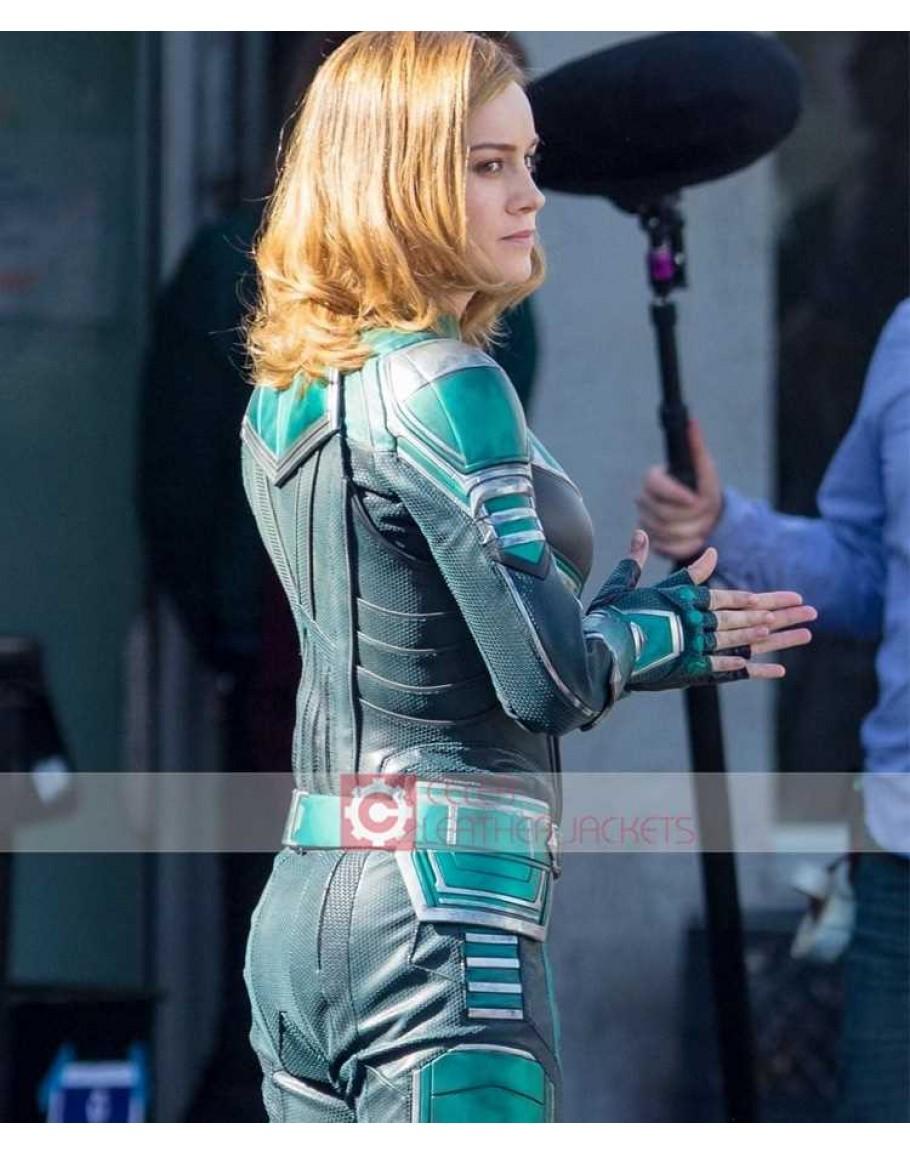 Buy Captain Marvel Brie Larson Carol Danvers Costume Jacket Mens pilot captain air wingman aviator fancy dress costume outfit. captain marvel brie larson carol danvers costume jacket