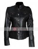 Get Smart Anne Hathaway Black Leather Jacket