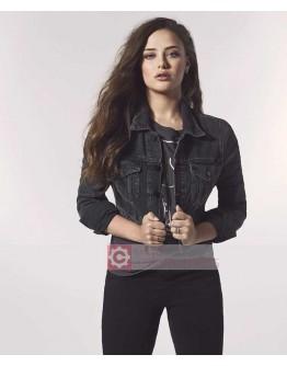 Katherine Langford 13 Reasons Why (Hannah) Denim Jacket