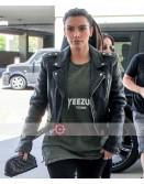 Kim Kardashian Motorcycle Leather Jacket