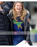 Melissa Benoist On Set Of Supergirl Hood Jacket