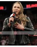 WWE Ronda Jean Rousey Biker Leather Jacket
