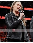 WWE Ronda Jean Rousey Biker Leather Jacket