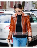 Singer Selena Gomez Stylish Leather Jacket