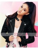 Singer Ariana Grande Biker Leather Jacket