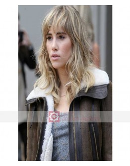 Suki Waterhouse B3 Sheepskin Shearling Jacket