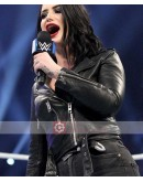WWE Paige (Saraya Bevis) Biker Leather Jacket