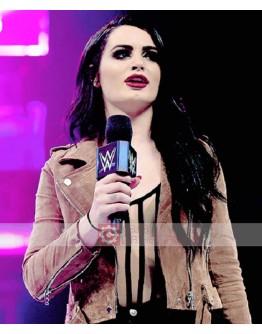 WWE Paige (Saraya Jade Bevis) Suede Jacket