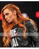 WWE Becky Lynch Smack Down Biker Leather Jacket
