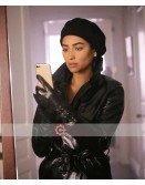 You Tv Series Shay Mitchell Leather Coat