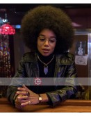 BlacKkKlansman Laura Harrier Leather Jacket