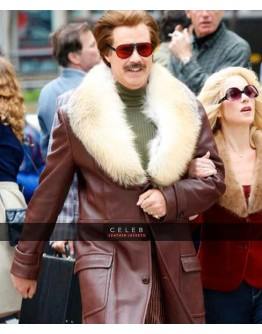 Anchorman 2 Will Ferrell Trench Fur Coat