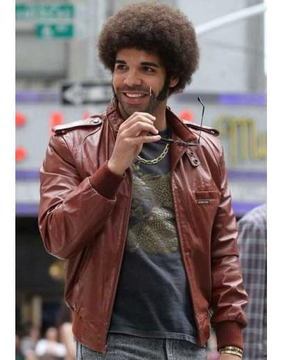 Anchorman 2 Aubrey Graham (Drake) Leather Jacket