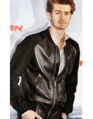 Andrew Garfield Bomber Leather Jacket
