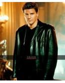 Angel David Boreanaz Black Leather Coat