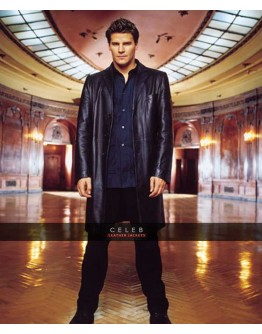 Angel David Boreanaz Black Leather Coat