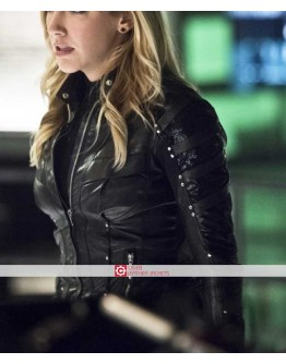 Arrow Season 5 Black Canary Katie Cassidy Jacket