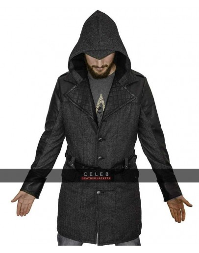 Jacob Frye Assassins Creed Syndicate Wool Faux Leather Coat