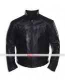 Batman Begins Movie Leather Street Jacket