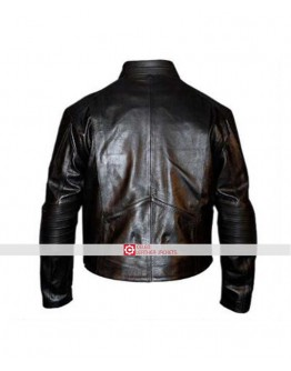 Batman Begins Movie Leather Street Jacket