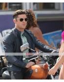 Baywatch Zac Efron Biker Jacket