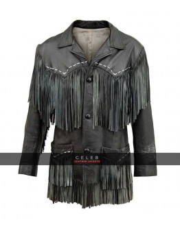 Bob Dylan Fringe Black Leather Jacket