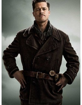 Brad Pitt Inglourious Basterds Wool Coat