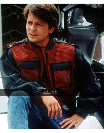 Back To Future Marty Mcfly FAUX Leather Jacket