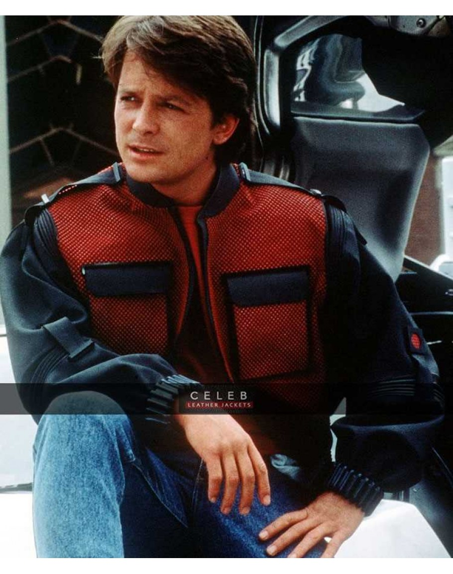 back to future marty mcfly faux leather jacket. Black Bedroom Furniture Sets. Home Design Ideas