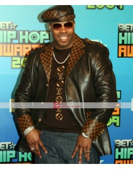Busta Rhymes Black Leather Jacket