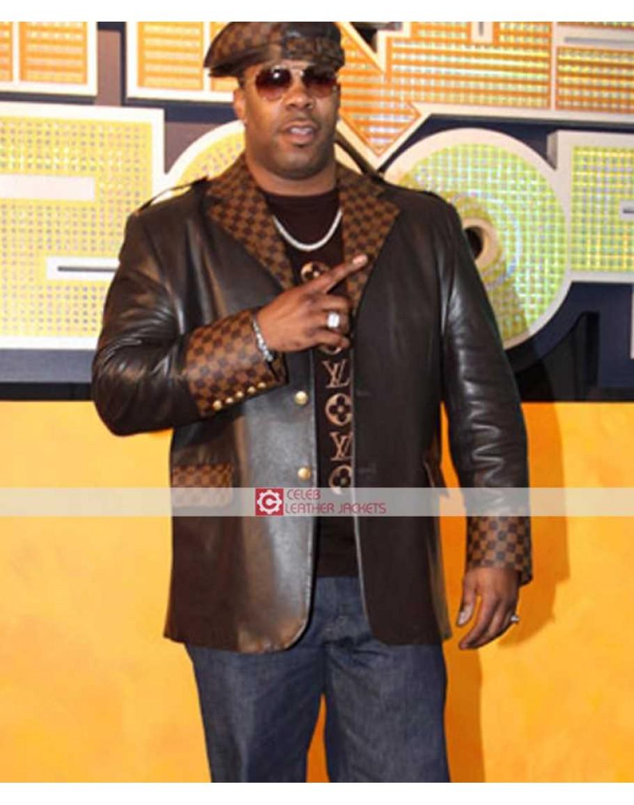 Busta Rhymes Black Leather Jacket 0e00621afa11