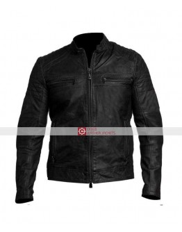 Cafe Racer Vintage Biker Black Leather Jackets