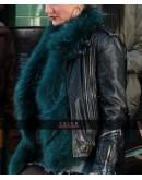 Cameron Diaz Black Biker Leather Jacket