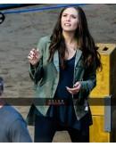 Captain America Civil War Elizabeth Olsen (Scarlet Witch) Green Jacket