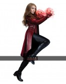 Captain America Civil War Scarlet Witch Red Coat