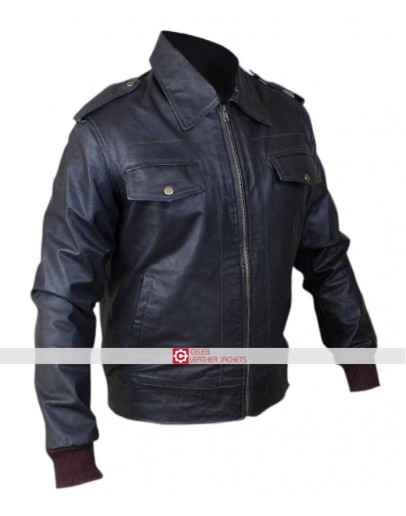 Avengers Steve Rogers (Chris Evans) Brown Biker Jacket